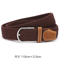 110cm Men fashion Canvas blets for Women Plain Webbing Metal Buckle Woven belt female Stretch Elasticity belts and strap D002