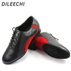 DILEECHI arrival Men's Latin dance shoes Genuine leather Ballroom dancing shoes Low heel 2.2cm big size Party Square dance shoes