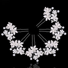 Fashion Women Lady Beautiful Hairpins Crystal For Wedding Simulator Mode Pearl Hair Cilp Hair Band Accessories