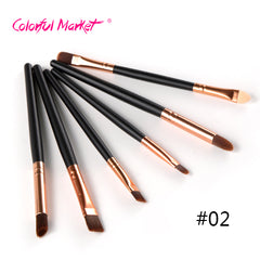 2017 Best Quality Hot Sale 6 Pcs Beauty Makeup Brushes Set Professional Eyeshadow Blusher Brushes