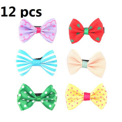12PCS/lot Mix Color Styles Flower Cartoon Hairpins Lovely Kids Girls 3 cm Multicolor Hair Clip Hair Band Accessories