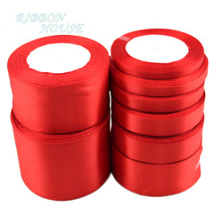 (25 yards/roll) Red Single Face Satin Ribbon Wholesale Gift Wrapping Christmas ribbons