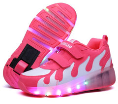 18 Kinds Children Shoes Boy & Girls Casual With LED Lamp Fashion Sport Shoes For Chid Kids Flash Sneakers