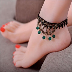 Boho Bead Anklet Wedding Foot Jewelry Chain Barefoot Sandals Beach Foot Bracelet For Women C744