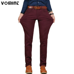 2017 Brand New Mens Casual Pant High Stretch Elastic Fabric Skinny Slim Cutting Trouser Pocket Badge Plus Size 44 46  V7S1P008