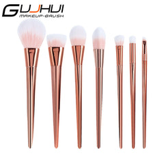 2017 New 7PCS  Rose Gold Blush Brush Professional Contour Brush Cosmetics Make Up Brush Eyebrow brush Makeup Brush Beauty Tools