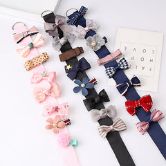 M MISM 1set 2017 korean cute style bowknot hair bands Children hair clip kids girls hair accessories Beautifully Barrette