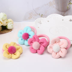 2017 Korean Cute Style Flower elastic hair bands Children Girl hair clip kids hair accessories Beautifully Edition Elastic Hair