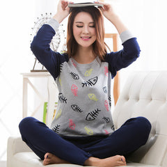 2016 Autumn Striped Pyjamas Cotton Couple Pajamas Set Women Sleepwear Pajama Sets Pijamas Mujer Lover Pyjamas Homewear Clothing