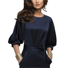 Lantern Sleeve Navy Blue Wear