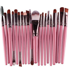 20Pcs Makeup Brushes Set Pro Powder Blush Foundation Eyeshadow Eyeliner Lip Cosmetic Purple Brush Kit Beauty Tools