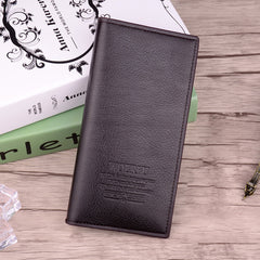 (WOERFU) Fashion Classic Men Soft Long Brand Leather Wallet Purse Clutch with Card Holder for Men's Best Gift Free Shipping