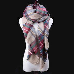 2017 Brand Designer winter Scarf For Women Scarves Cashmere Warm Wrap Plaid Scarf Luxury Scarf For Female Shawl Girls Shawls