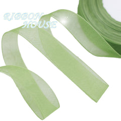 (50 yards/roll) 20/25/40/50mm organza ribbon wholesale gift wrapping decoration Christmas ribbons