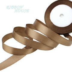 "(25 yards/roll) 1/2"" (12mm) Single Face Satin Ribbon Webbing Decoration Gift Christmas Ribbons"