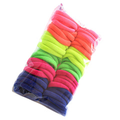 50pcs/set Hair Bands 2017 New colorful lowest price for beautifully womens Girls Elastic Hair Ties Band Rope Ponytail Bracelet