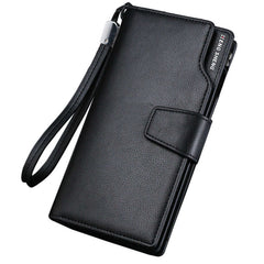 2016 New Stylish Men Long Bifold Business PU Leather Wallet Money Card Holder Coin Bag Purse Slim Bi-Fold Flip Wallets