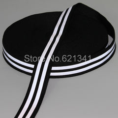 (10 meters/lot) 25mm*5mm(W) Double Strip Reflective Tape Reflective Fabric Webbing Edging Braid Sew On Black