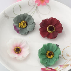 Boho Styles 11 Colors Imitation Flower Hair Clip Beauty Hairpins Barrette Decoration Hair Accessories Beach Hairwear Party