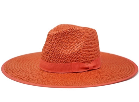 Fefe Straw Oversized Fedora Red Hat