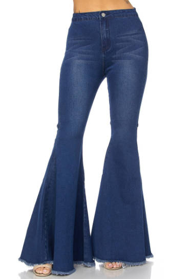 Brita Bell Bottom Jean Pants:FINAL SALE