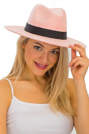 Phalyn Rose Pink Fedora Hat
