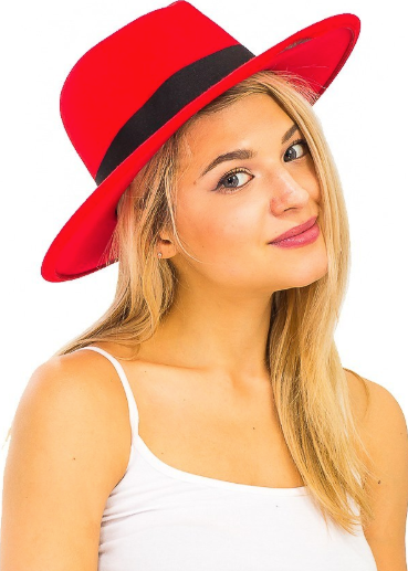 Phalyn Red Fedora Hat