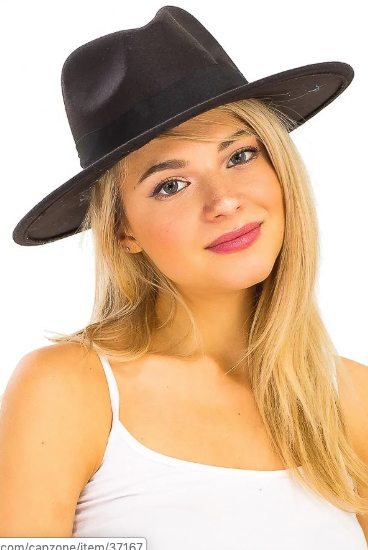 Phalyn Black Fedora Hat