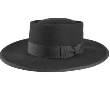 Formation Boat Black Wide Brim Fedora Hat:PRE-ORDER