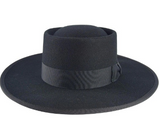 Formation Boat Black Wide Brim Fedora Hat