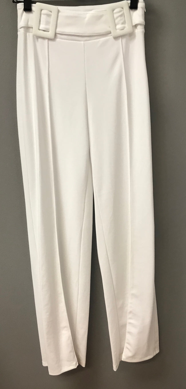 Hannah High Waist White Pants:FINAL SALE