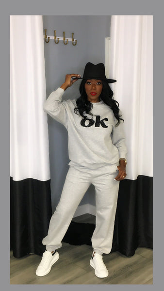 OK Girl Sweatsuit Set