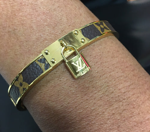 LV Monogram Lockett Bangle