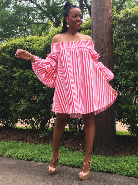 Ona Off the Shoulder Tunic Dress:FINAL SALE