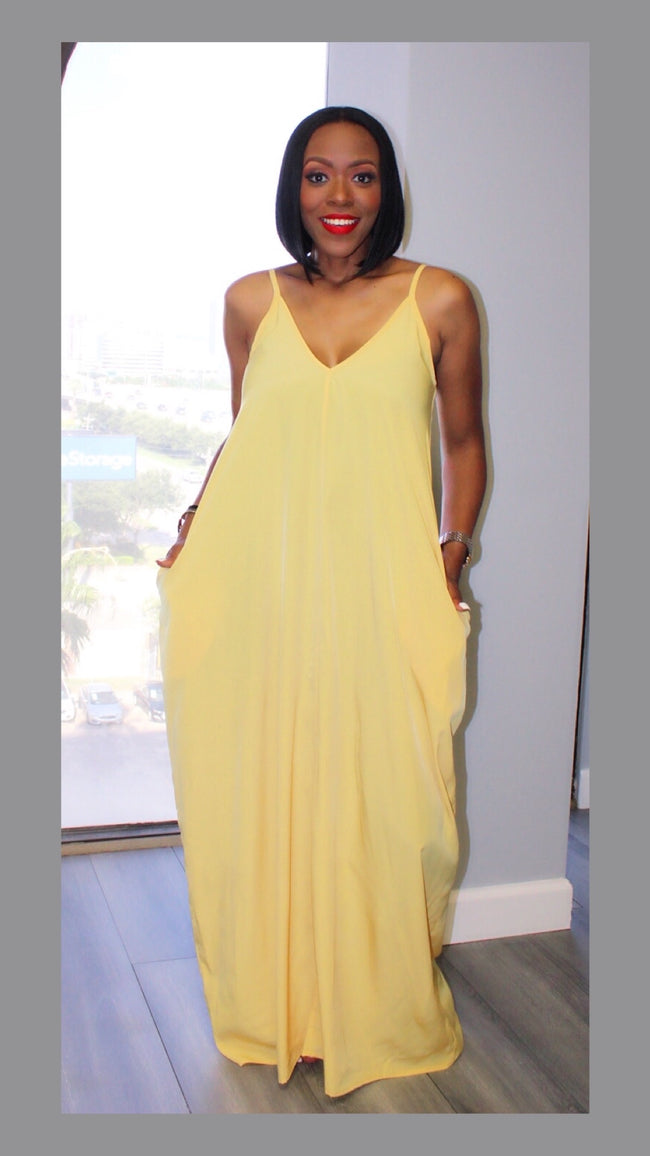 Petrine Yellow Maxi Dress
