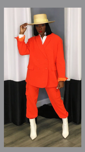 Oria Orange Boyfriend Suit