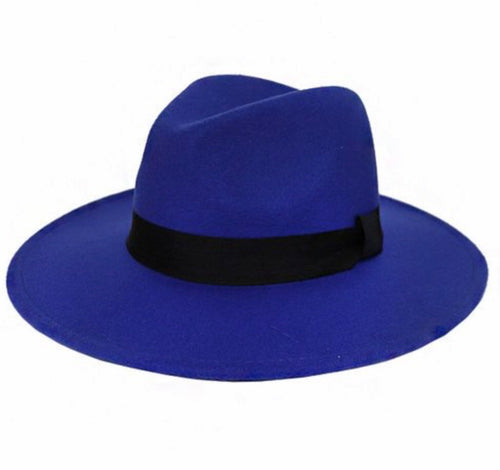 Phalyn Cobalt Blue Fedora Hat