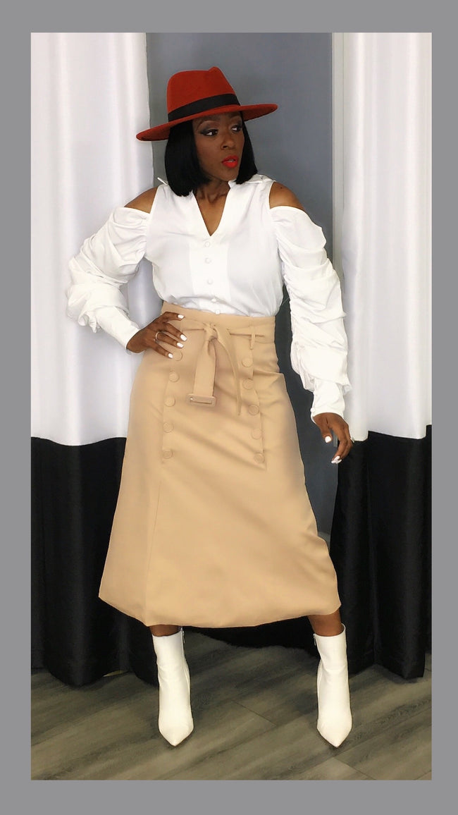 Kate Khaki Highwaist Skirt