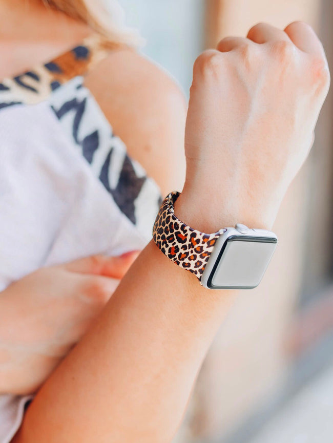 Leopard Silicone Apple Watch Band