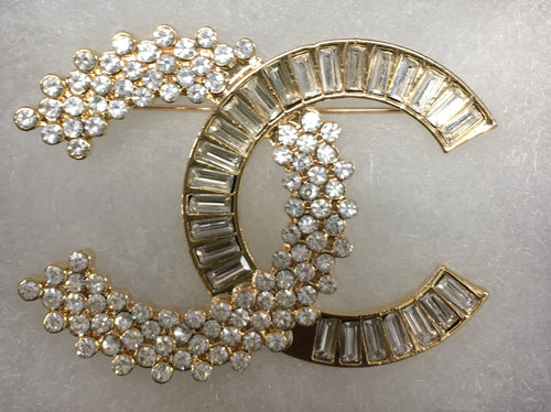 Myra Baguette and Round Cluster Brooch