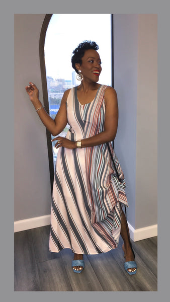 Sania Striped Maxi Dress