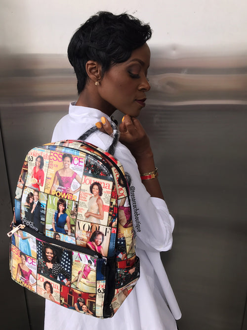 First Lady Magazine Backpack Handbag:FINAL SALE