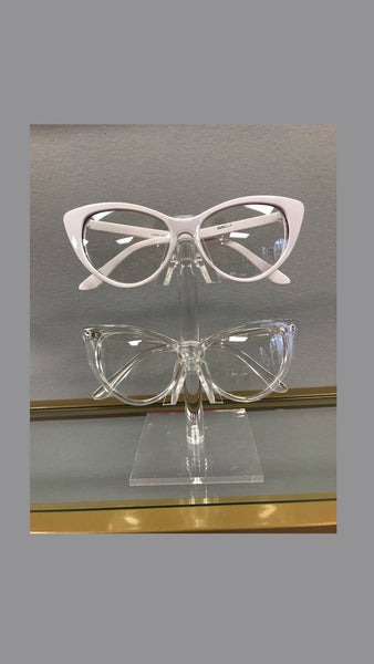 Cai Cateye Clear Sunglasses