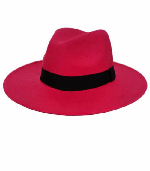 Phalyn Hot Pink Fedora Hat
