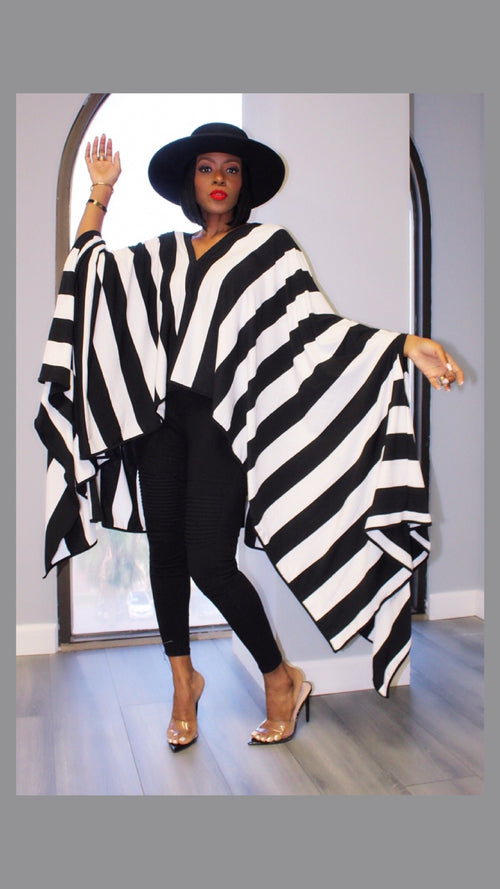 Sienna Striped Poncho Top