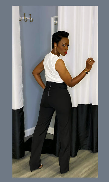 Genesis Black and White Jumpsuit:FINAL SALE