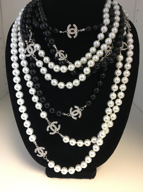 Double CC Classic Strand Necklace