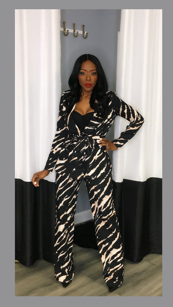 Zebra Remix Suit:FINAL SALE