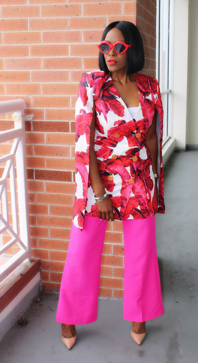 Girl Boss Power Pink Suit Pants