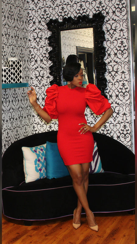Zoe Bandage Red Dress